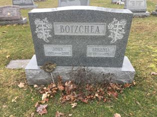 John Eugenia Botzchea headstone Rev